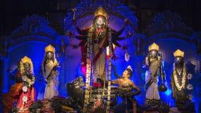 孟加拉节日durga puja 图库摄影