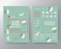 孟菲斯公司本体的,小册子年终报告盖子飞行物海报设计版面在A4大小的传染媒介模板艺术背景 向量例证