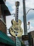 孟菲斯太阳演播室吉他 免版税库存照片