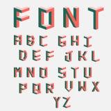 孟菲斯样式信件 仿照20世纪80年代样式的色的信件 套根据被修建的传染媒介信件 库存图片