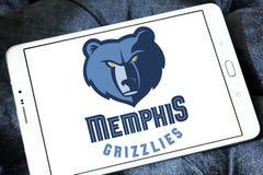 孟菲斯灰熊美国蓝球队商标 图库摄影
