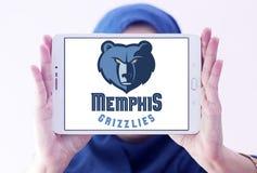 孟菲斯灰熊美国蓝球队商标 库存照片
