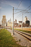孟菲斯由铁路 免版税图库摄影