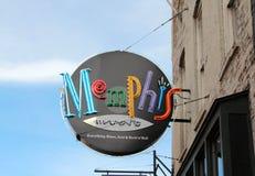 孟菲斯蓝色和爵士乐俱乐部Beale街孟菲斯,田纳西 库存照片