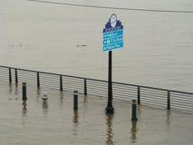 孟菲斯,田纳西洪水 库存图片