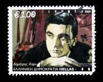 季米特里斯垫铁(1921-1998),剧院和戏院serie,大约2009年 免版税库存照片