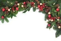 季节性圣诞节边界 免版税库存图片