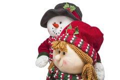 季节性圣诞节雪人庆祝 免版税库存图片