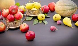 季节性新鲜的有机果子 免版税库存图片