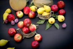 季节性有机果子 免版税库存图片