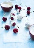 季节性樱桃甜点点心 库存图片