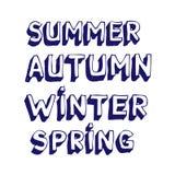 季节性的字体 免版税库存照片