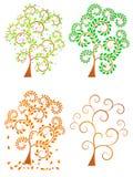 季节性结构树 向量例证