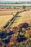 季节性自然户外场面,减速火箭的照片过滤器 免版税库存照片