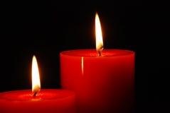 季节性蜡烛的纵向 库存照片