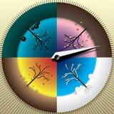 4季节的指南针 季节概念选择  免版税库存照片