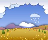 季节的概念变动 显示平安和i的地球概念 向量例证