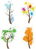 季节结构树 图库摄影
