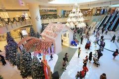 季节购物中心圣诞装饰 免版税库存图片