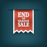 季节销售丝带元素的末端 销售额 库存图片