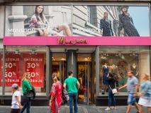 季风商标在他们的主要商店装饰在贝尔格莱德 季风Accessorize是零售衣物专门研究的企业 免版税库存照片