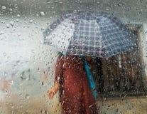 季风季节在加德满都,尼泊尔 库存照片