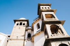 季风宫殿,在乌代浦,印度的历史大厦 库存照片