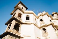 季风宫殿,在乌代浦,印度的历史大厦 免版税库存图片