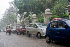 季风雨在印度 库存图片