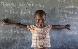 孤儿在Mfangano海岛,肯尼亚上的一所孤儿住宿学校 免版税图库摄影