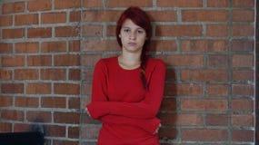 孤独和单独青少年的女孩 免版税库存照片