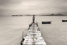 孤独的人 免版税库存照片