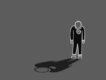 孤独的剪影人的例证 免版税库存照片