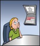 孤独的员工 免版税库存照片