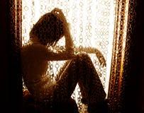 孤独的妇女 免版税库存照片