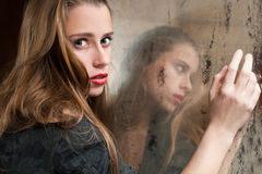 孤独的妇女 免版税图库摄影