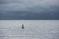 孤独的渔夫 库存图片