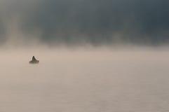 孤独的渔夫 免版税库存图片
