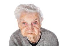 孤独的老妇人 免版税库存图片