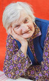 孤独的老妇人 免版税库存照片