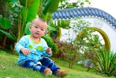 孤独的婴孩(亚洲,中国,汉语) 库存照片