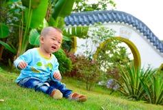 孤独的婴孩(亚洲,中国,汉语) 免版税图库摄影