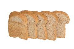 孤立切片全麦面包 免版税库存照片
