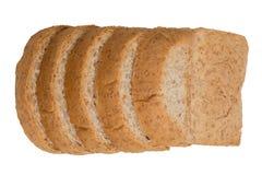 孤立切片全麦面包 图库摄影