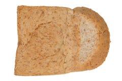 孤立切片全麦面包 免版税图库摄影
