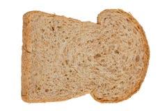 孤立切片全麦面包 免版税库存图片
