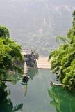 孤立小船中国的捕鱼 库存照片