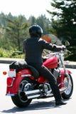 孤立摩托车车手 免版税库存图片