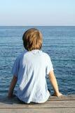 孤立的男孩 免版税库存图片