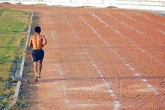 孤立赛跑者 免版税库存照片